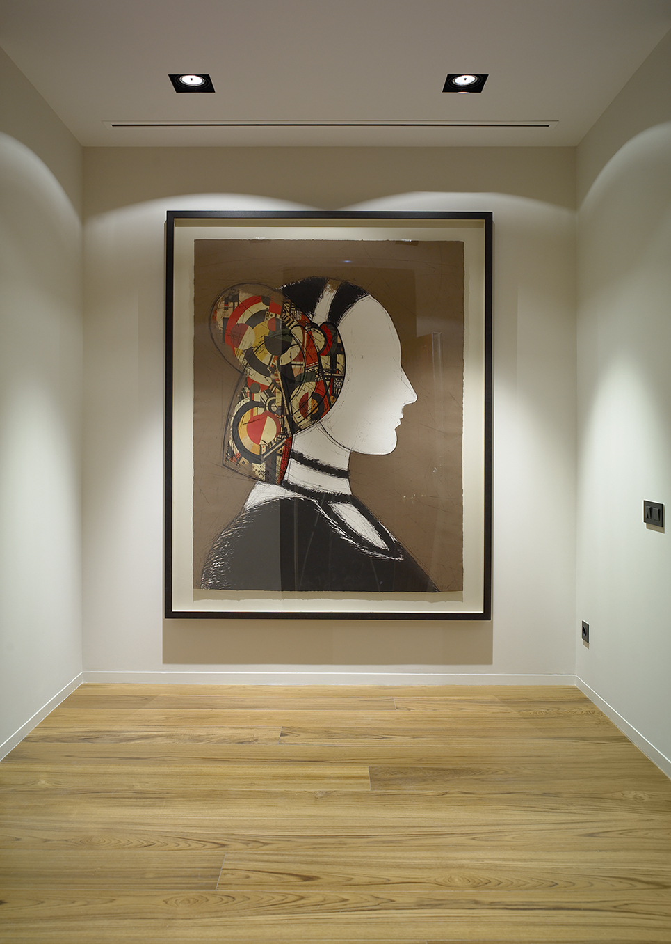 Manolo Valdés Painting in Hall